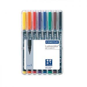 Pennarelli universale S 0,4 mm, 8 colori  Lumocolor Permanent Staedtler