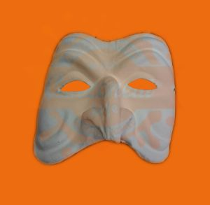 Maschera bianca da decorare