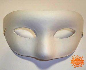 Maschera Bianca Zona Occhi - da Decorare - art. 8495-70 - Marianne Hobby