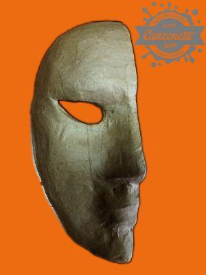 Maschera mezza faccia in cartone pressato Grezzo - Parte destra del Volto - art. 8495-81