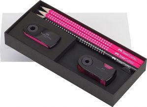 Matite - Gift Set SPARKLE Rosa Neon - Confezione regalo -  art. 21 84 20 - Faber-Castell