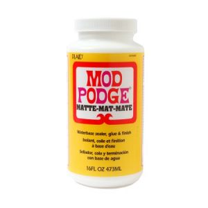 MOD PODGE - Matt - Colla - Finitura - Sigillante - a Base d'Acqua - 473 ml - art. GECS11302 - Plaid