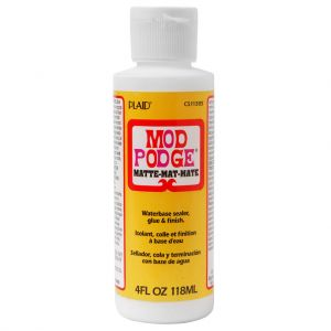 MOD PODGE - Matt - Colla - Finitura - Sigillante - a Base d'Acqua - 118 ml - art. GECS11305 - Plaid
