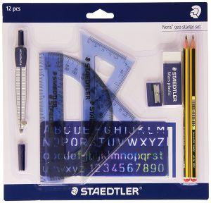 Set Squadre per Disegno Tecnico/Geometrico - Noris Geo Starter Set - 12 Pezzi - art. 569 120 P1 - Staedtler