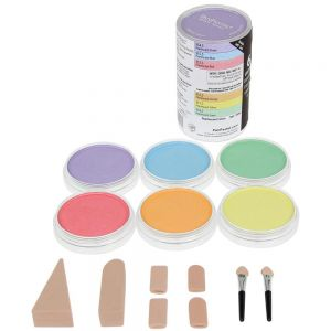 PanPastel - Pastelli Morbidi in pasticca - Ultra Soft Artist's Painting Pastels -  Set  6 colori perlescenti + Accessori - art. 30062