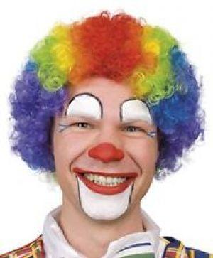 Parrucca Clown Multicolor Arcobaleno - Boland - Accessori Carnevale