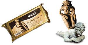 Pasta modellabile Autoindurente - Darwi Terracotta - 250 g - art. DA 081 0250 000 - Darwi