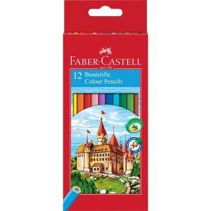EcoMatite colorate Naturali - Pastelli Esagonali - Confezione 12 Colori + Temperino - art. 120112EUI - Faber-Castell