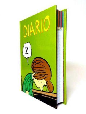 diario scolaltico  peanuts mafalda verde