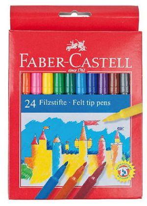 Pennarelli punta fina - Confezione con 24 Colori - art. 55 42 24 - Faber-Castell