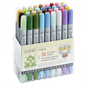 Pennarelli COPIC CIAO Markers - 36 Brilliant Colours - Colori Brillanti - art. 22075 436