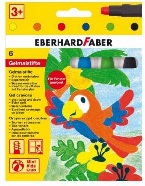 Penne colorate con inchiostro gel - Acquerellabili - Adatti per le Finestre - Pastelli Soffici Punta Grande - Mini Kids Club - art. 529006 - EberhardFaber
