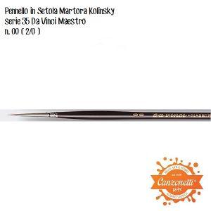 Pennello in martora Kolinsky - setola extra lunga - Serie 35 Maestro Da Vinci - punta Tonda n. 00 (2/0) -  Da Vinci