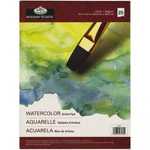 Watercolor Artist Pad - Blocco da Disegno per Acquerello - 25 fogli - 190 g - 22,9 x 30,5 cm - art. RD352 - Royal & Langnickel
