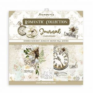 Set Carte Scrapbooking Paper Pack JOURNAL - Romantic Collection - 10 fogli double faced - 20,3 x 20,3 cm - art. SBBS34 - Stamperia