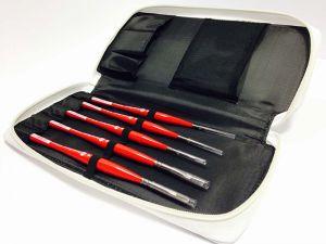 Set Passion for Art - 5 Pennelli fibra UNICO sintentico Silver - manico Rosso anti rotolamento - Made in Italy - art. 264254 - Borciani.Bonazzi