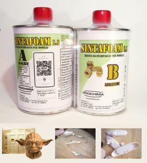 SINTAFOAM 1:1 NEUTRO - Resina Poliuretanica bicomponente molto fluida per riproduzione stampaggio 500 gr - Prochima