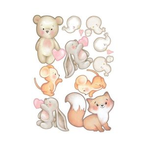 Sweet Wood - Puppies - Cuccioli - Sagome di Cartone Vegetale A5 - art. LESWA5018 - Renkalik