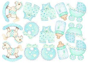 Sweet Wood - Baby - Accessori Battesimo bimbo - Sagome di Cartone Vegetale A5 - art. LESWA5004 - Renkalik