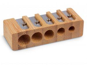 Temperamatite 5 fori in Bamboo - Temperino multifuzione - art. 33616 - Honsell