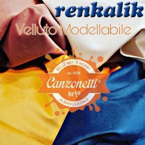 Velluto - 50 x 70 cm - Tessuto Modellabile - vari colori - art. TVEF- Renkalik