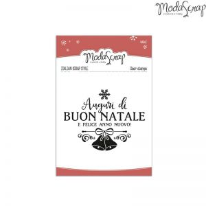 Timbro Modascrap - clear stamps - Natale