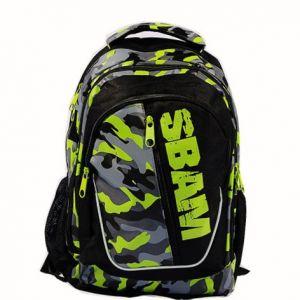 Zaino Borsa scuola con tripla sacca centrale X-Tag Sbam Verde